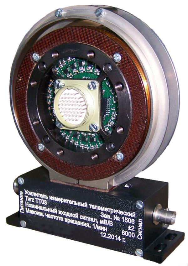 Тензоусилитель (токосъёмник) телеметрический ТТ03